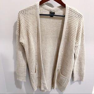 Rue 21 Cream Chunky Oversized Knit Cardigan sz S ✨